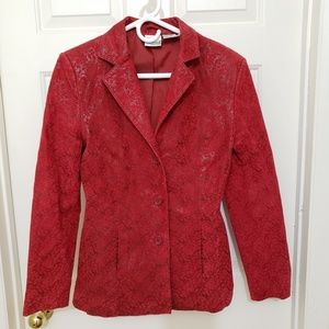 Newport News Easy Style Leather Suede Coat